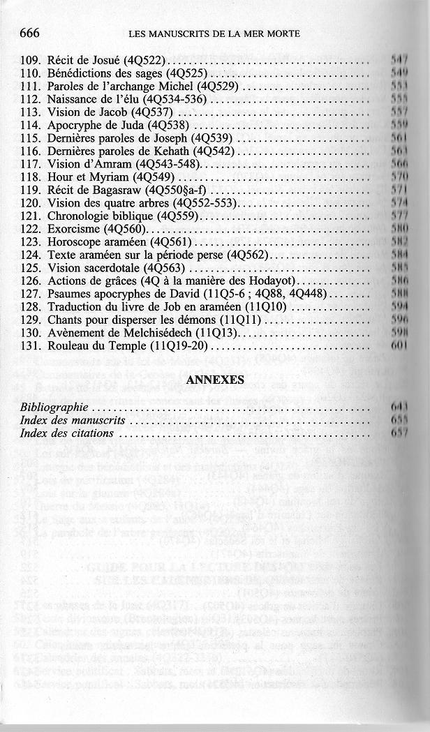 table des matieres N 4 des traductions françaises de textes des manuscrits de la mer morte de qumran wise abegg cook